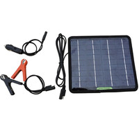 18V 5W Portable Solar Panel Multifunction Solar Battery Charger For Cars Boat Motorcycle Battery Maintainer