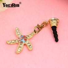 Universal 3.5mm Diamond Dust Plug Mobile Phone Acce