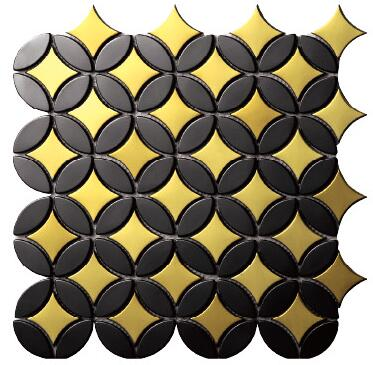 popular acero inoxidable metal mosaico azulejo de la cocina backsplash cuarto de bao ducha fondo chimenea