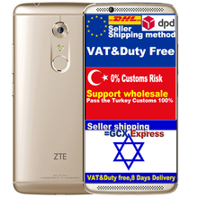 Оригинал ZTE AXON 7 A2017 Qualcomm Snapdragon 820 Кач Ядро 4 Г RAM 128 Г ROM 5.5 дюйма 2560*1440 20 М КАМЕРЫ Смартфон Android 6.0 БАТ