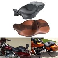 Black Desert Rider and Passenger Seat For Harley Touring Electra Street Glide Road King FLHT FLHX FLHR FLTRX 2014 2019 18 17