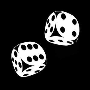 Image 2 - YJZT autocollant de voiture intéressant, dés de Poker Casino, motif de Poker, haute qualité, 13.4x13CM, décoration C12 0060