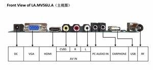 Image 5 - V56 MV56RUUL Z1 Universal LCD TV Controller Driver Board TV/PC/VGA/HDMI/USB Interface USB spielen multi Media Interface