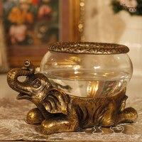 Azji południowo-wschodniej słoń Luofan opłaty szklane akwarium rzemiosło żywicy ozdoby otwarcia parapetówkę prezent ślubny