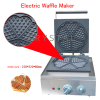Electric Waffle Maker Heart Shape Waffle Making Machine Muffin Cake Heating Plate Heating Machine FY 215