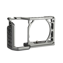WARAXE A6 Camera Cage for Sony ILCE-6000/ILCE-6300/ILCE-A6500 with 1/4 and 3/8 Threaded Holes Cold Shoe Base