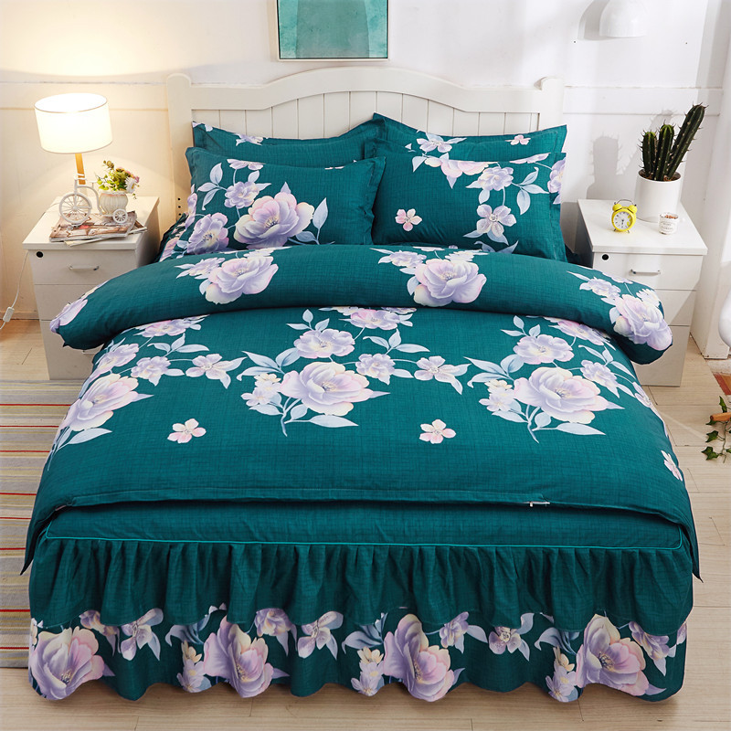 Comforter Bedding Sets Home Textile Family Set Bed Sheet Room Decoration Flowers Printing Bedspread Pillowcase 4pcs