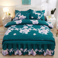 Comforter Bedding Sets Home Textile Family Set Bed Sheet Room Decoration Flowers Printing Bedspread Pillowcase 4pcs Wedding Set