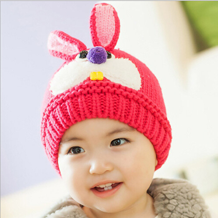 b8a1f97b Cute carton rabbit hat for baby kids knitted fashion children dress hats  boys winter warm skullies beanies for girls cap MZ0407-in Hats & Caps from  Mother ...