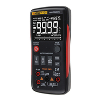 Digital Multimeter With Analog Bar Graph Button 9999 Counts AC/DC Voltage Ammeter Current Ohm Auto/Manual