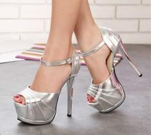 Super high heels 15cm Sexy Princess nightclub fish head sandals Waterproof Taiwan fine with hollow shoes sandals
