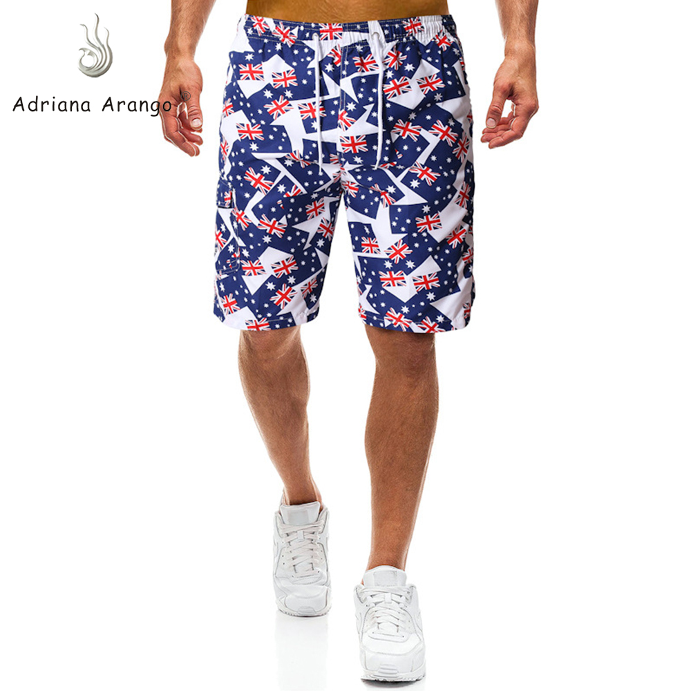 Adriana Arango 2019 Men's Beachwear   Board     Shorts   Quick Dry Watersport Swim Trunks