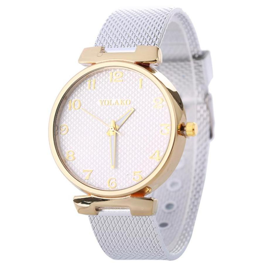 Women Fashion Quartz Watch Strap Solid Table Watch woman watches 2018 brand luxury Simple couple stylish stainless steel dial