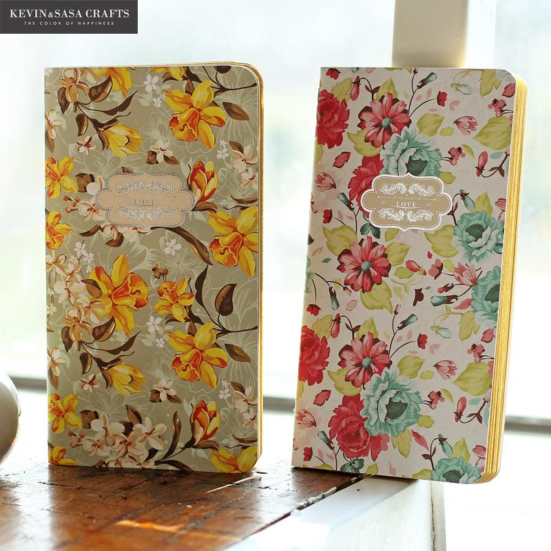Flower Notebook Blank Inner 28 Sheets 2017 Planner Sketchbook Diary Note Book Kawaii Journal Stationery School Supplies Study