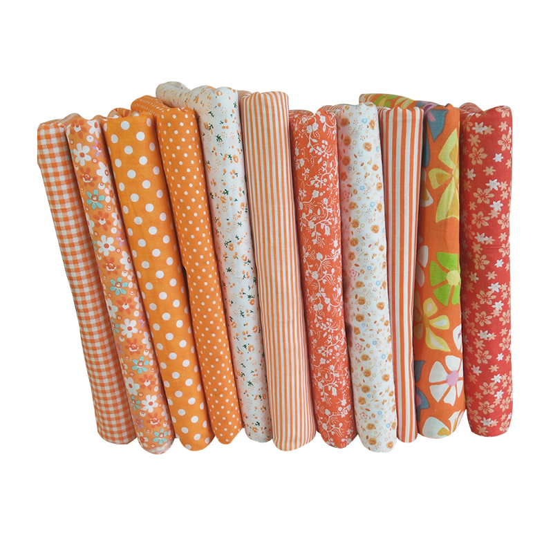 Hoomall orange cotton fabric for patchwork cheap fabric for Cheap sewing fabric