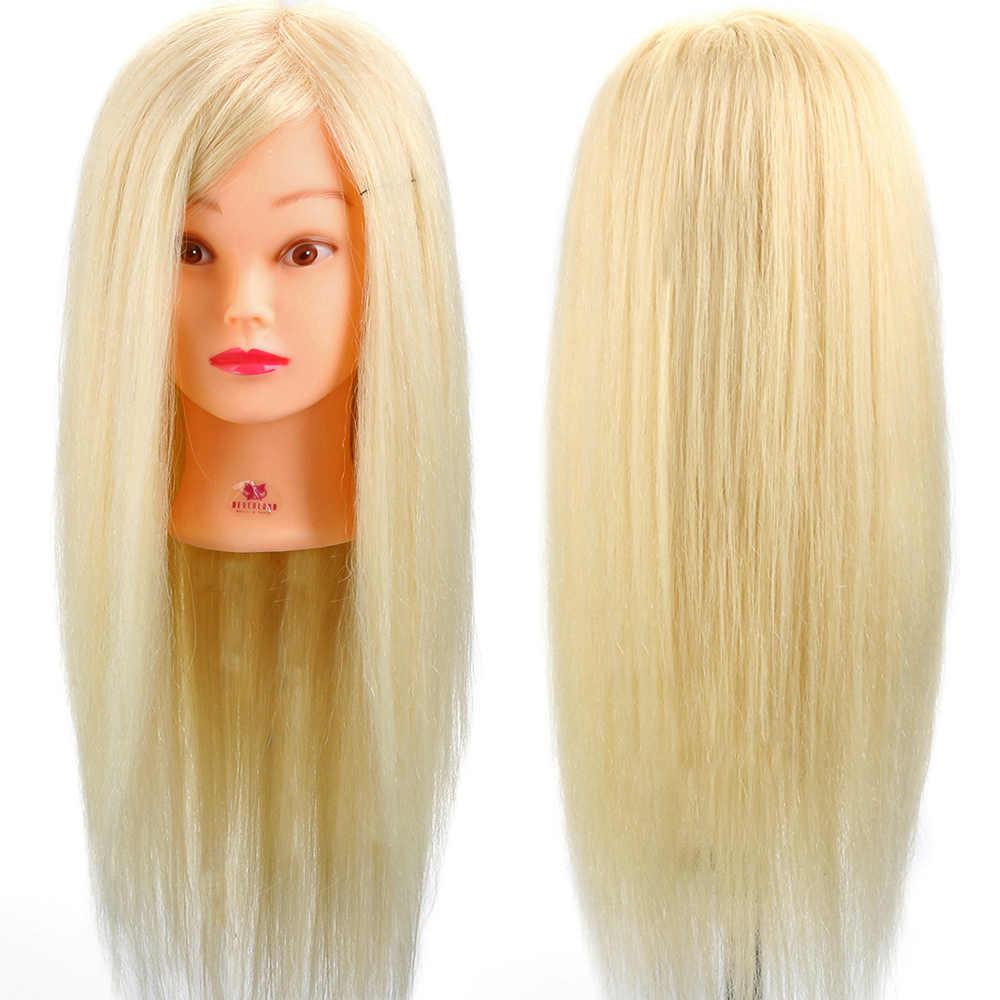 Болванка из натуральных волос блонд