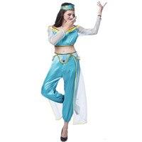 Halloween Adult Womens Arabian Dancers Fancy Dress India Belly Dancer Costume