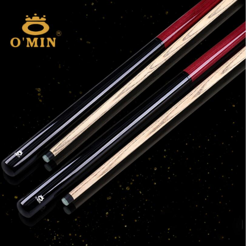 New Arrival O'min Brand Break Punch Jump Cue Billiard Stick Kit Ash Wood Shaft Professional Handmade Durable China 2019