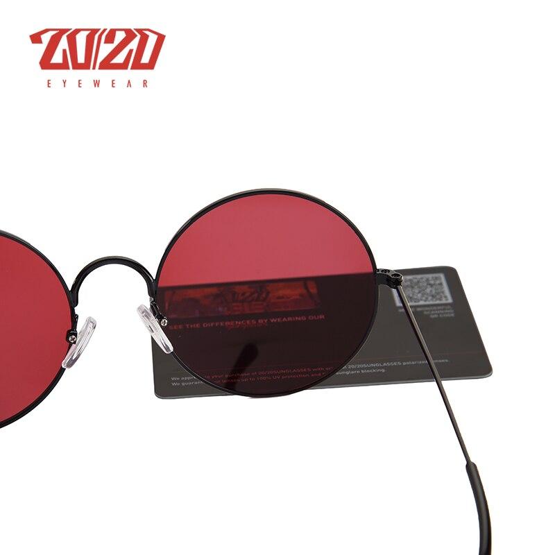 20/20 Brand New Unisex Sunglasses Men Polarized Women Vintage Round Metal Glasses Accessories Sun Glasses for Women 17008 6