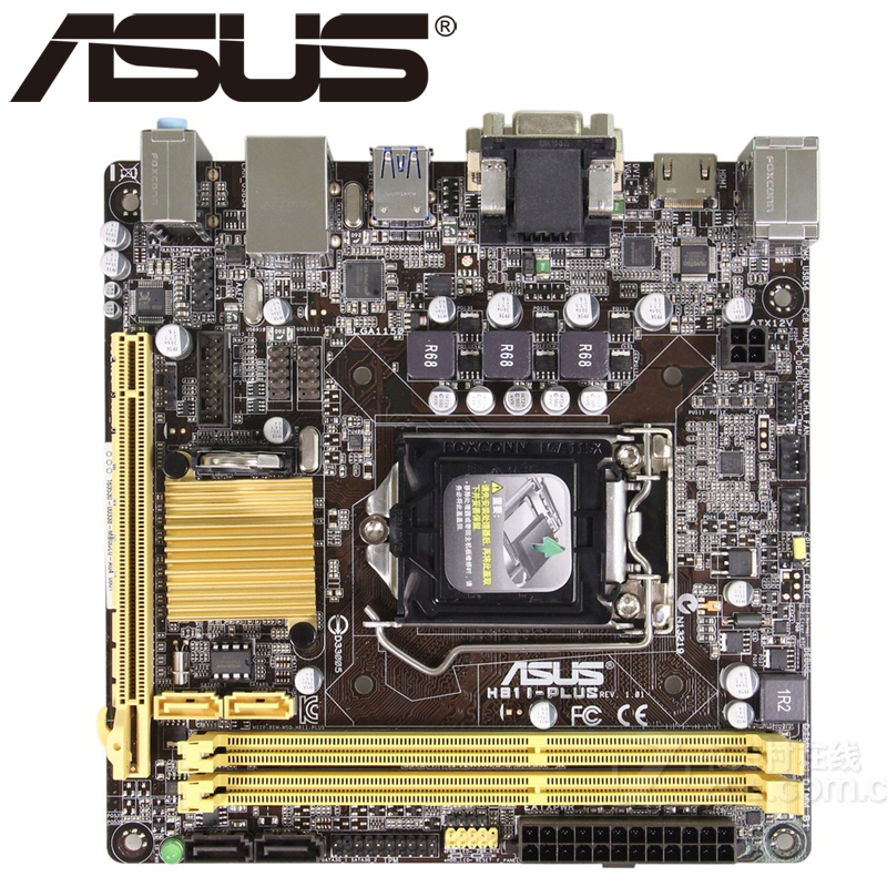 Asus H81I-PLUS Desktop Motherboard H81 Socket LGA 1150 i3 i5 i7 DDR3 32G ATX UEFI BIOS Original Used Mainboard Hot Sale asus p8b75 m lx desktop motherboard b75 socket lga 1155 i3 i5 i7 ddr3 16g uatx uefi bios original used mainboard on sale