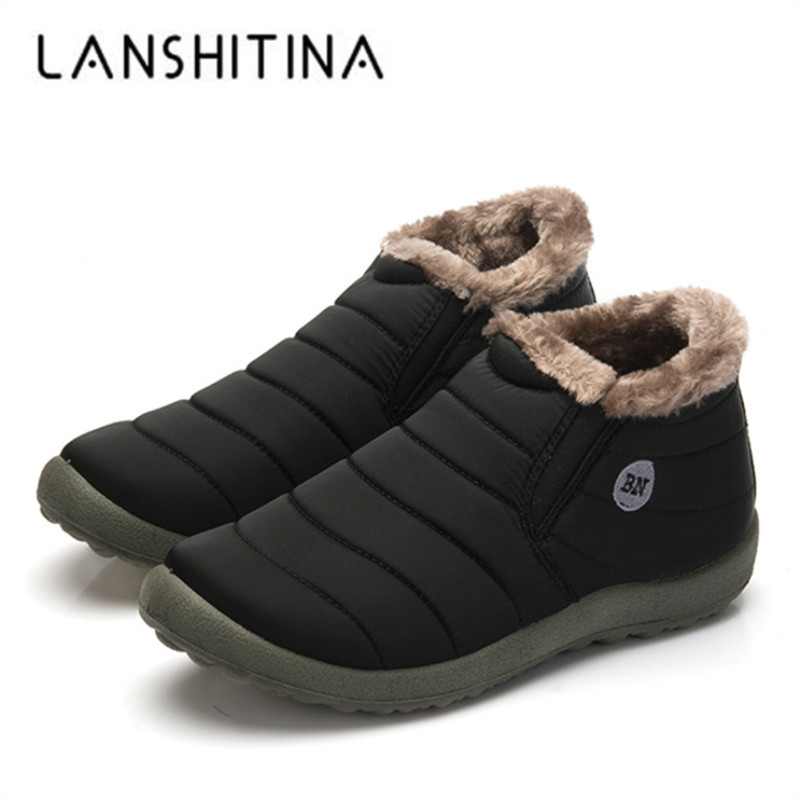 2018 Waterproof Men Winter Shoes Unisex Snow Boots Warm Fur Inside Outdoor Shoes Very Warm Father Casual Ankle Boots Size 35-48