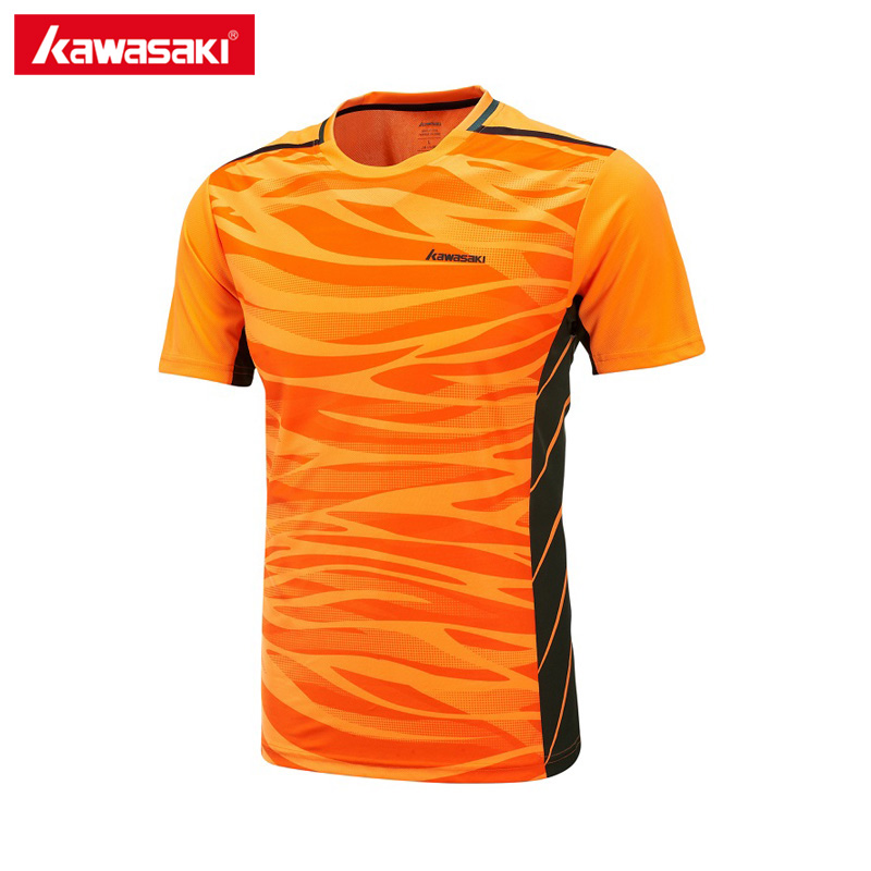 Kawasaki tennis shirts for men sportswear breathable comfort badminton t shirt sports clothing clothes st 171022