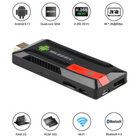 Smart TV Box MK809IV 2GB 8GB Android Wireless Dongle WIFI Bluetooth TV Game Stick HD Mini PC Quad Core RK3188T WIFI TV Stick