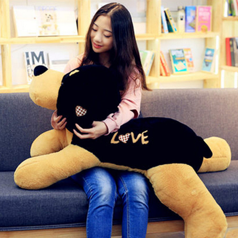 Fancytrader Giant 43inch Animal Plush Dog Pillow Big Stuffed Soft Simulated Puppy Dog Toys Kids Play Doll 43inch papa plush dog 110cm kawaii soft animal oversize dog cute pap stuffed pusher pillow doll porcelain toys bouquet doll