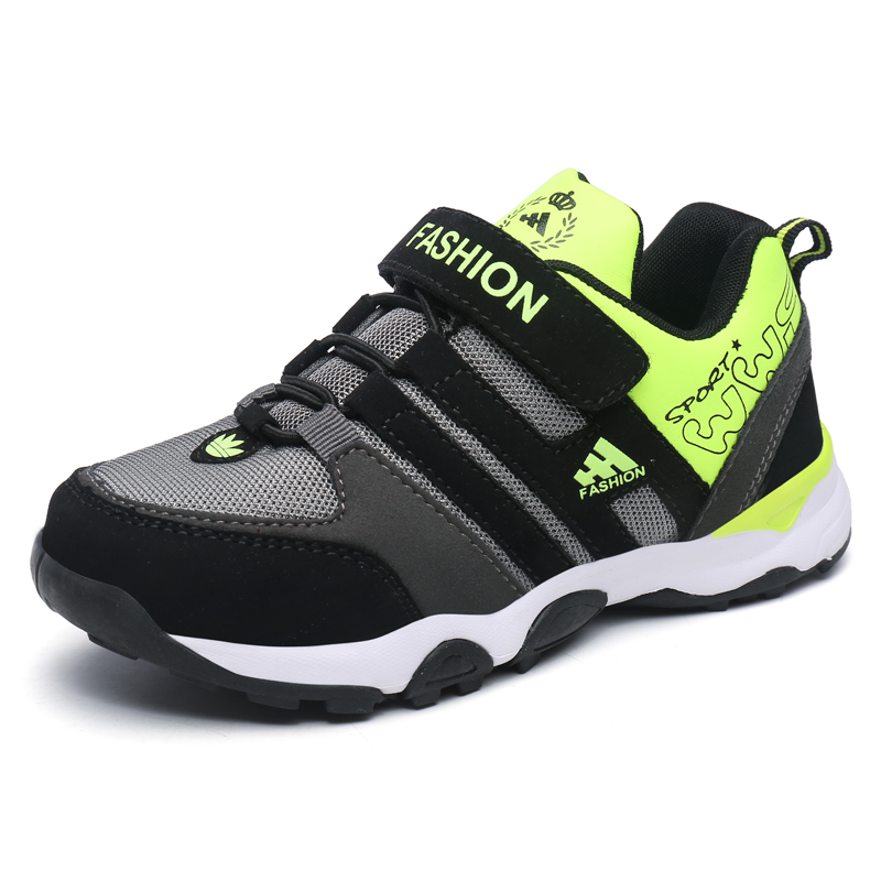 Leather Boys Girls Durable Breathable Mesh Sneaker Shoes Toddle Kids/Little Kids Casual Sport Running Hook&Loop TPR Sole 31-37 2016 spring child sport shoes leather boys shoes girls wear resistant casual shoes