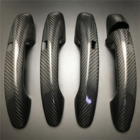 For Mercedes Benz C Class W205 W213 W238 W222 CLS GLE GLC C180 C200 C250 Carbon Fiber Auto Door Handle Trim Covers Car styling