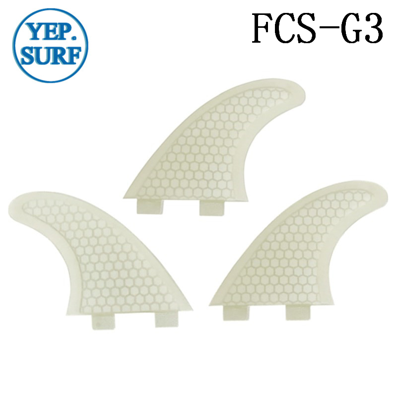 Surfing FCS Fins G3 Size Honeycomb Fibreglass Fin White color Surf Quilhas