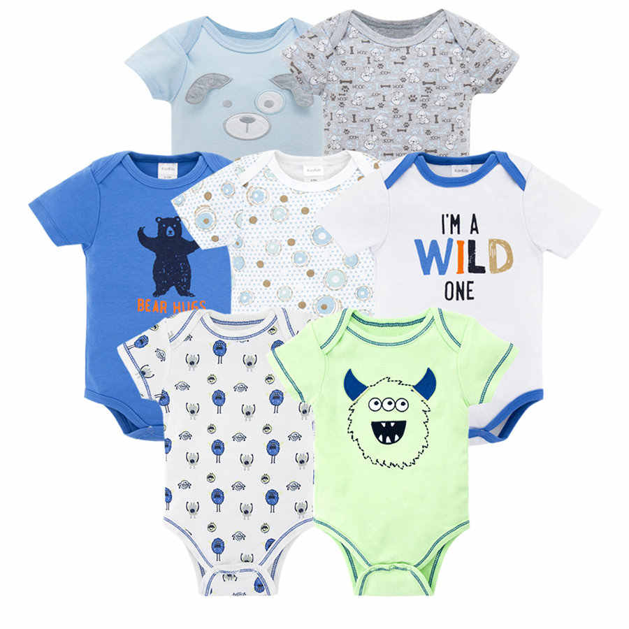 e12427b91c728 Kavkas Cute Newborn Infant Baby Boys Rompers Summer Short Sleeve Cartoon  Baby Boy Jumper Clothing Jumpsuit Playsuit