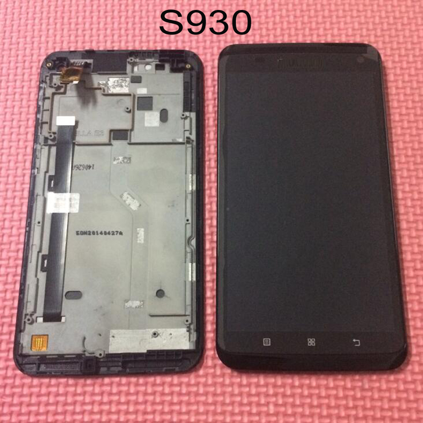 High Quality LCD Display Touch Screen Digitizer Assembly with frame For Lenovo S930 Glass Sensor Mobile Replacement Parts for letv le1 pro x800 lcd display monitor touch screen digitizer glass sensor assembly replacement parts high quality