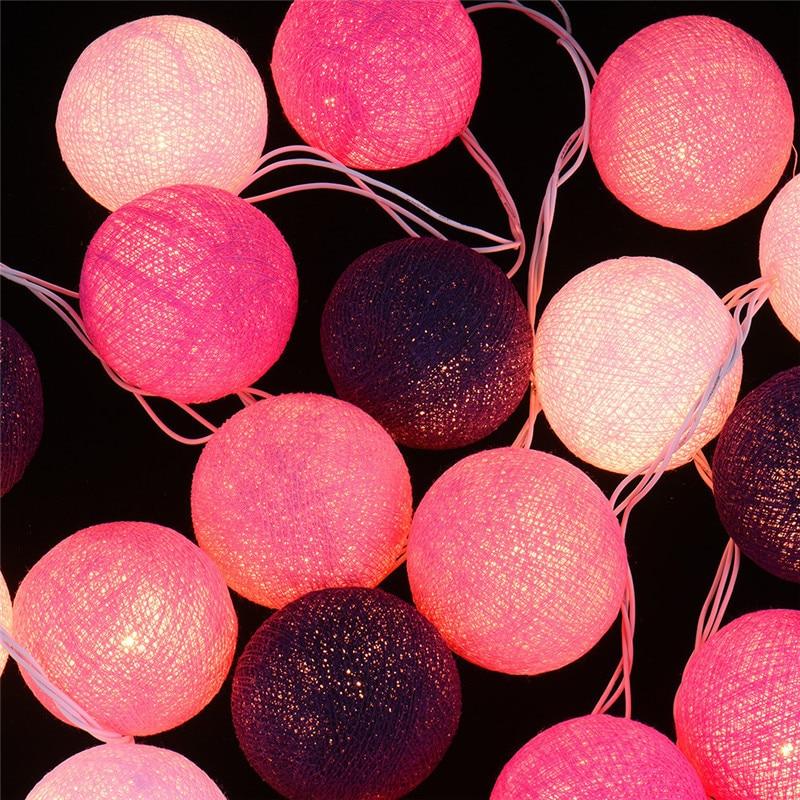 lneas de mano de iluminacin creativa tailandia estilo lmpara de la bola de luces de cadena
