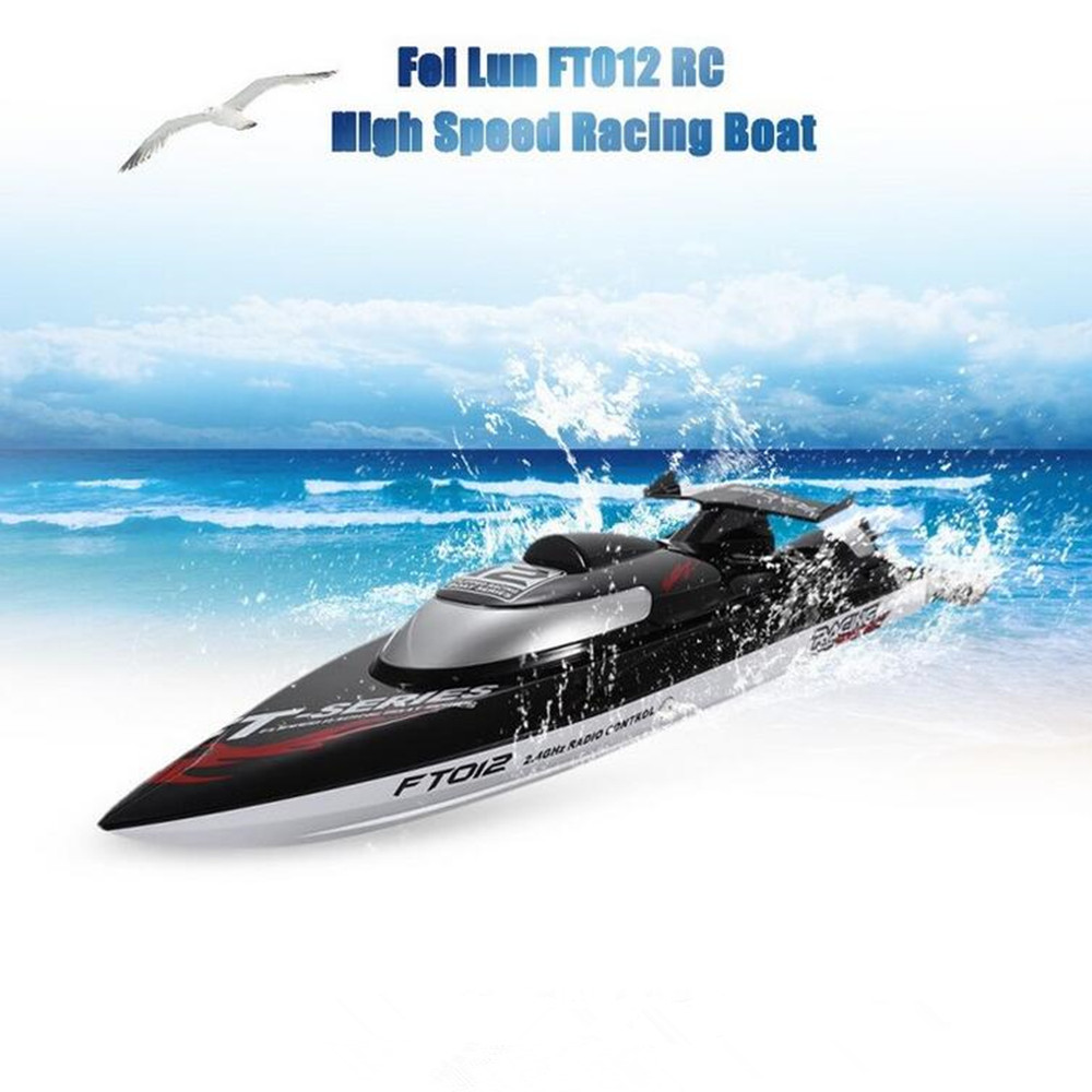 Fei Lun FT012 2.4G 4CH 45km/h Water Cooling System Anti-collision Fine Adjustment Gear Brushless Remote Control Racing Boats  цена и фото