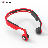 ALWUP Bone Conduction Sports Bluetooth 4 2 Earphone Cell Phone Stereo Headphone Headset Mic Microphone Support
