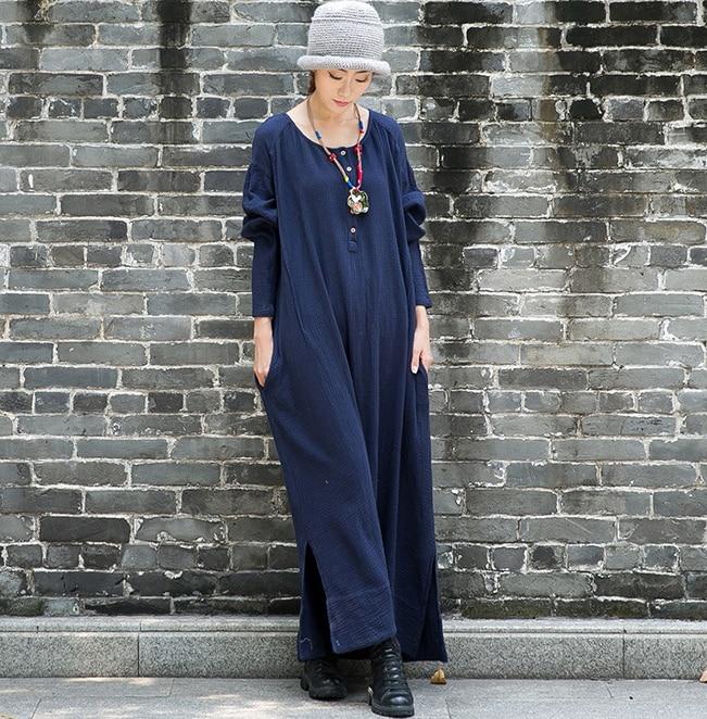 Aliexpress.com : Buy New 2015 women\'s cotton linen maxi dress long ...