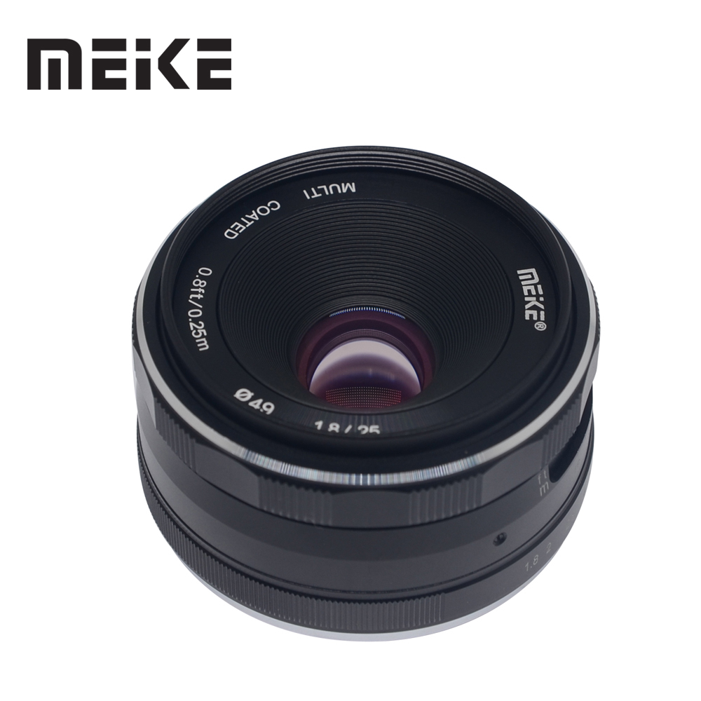 Meike 25mm f/1.8 Large Aperture Wide Angle Lens Manual Focus Lens for Sony E-mount A6000 A6300 A7 A6500 A7RIII A9 with APS-C meike 8mm f 3 5 wide angle fisheye lens camera lenses for sony a6000 alpha and nex mirrorless e mount camera with aps c