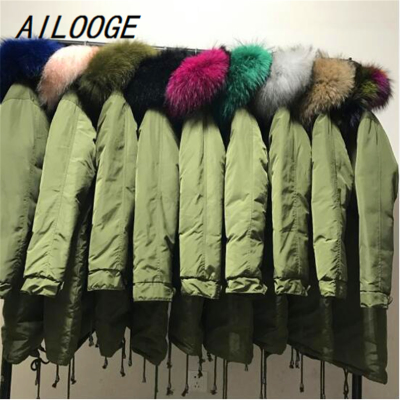 AILOOGE Winter Coat Women Warm Woman Parkas Female Overcoat High Quality White Duck Down Jacket Feather Coat