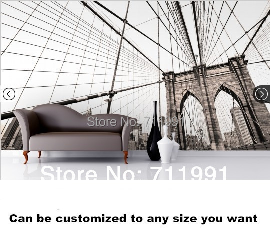 Custom photo wallpaper Brooklyn Bridge Foreground Mural for living room bedroom TV background wall waterproof vinyl wallpaper found in brooklyn