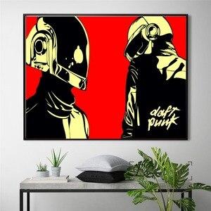 Daft punk hełm z maską plakat muzyczny i wydruk płótna sztuka obrazy dekoracje ścienne do dekoracji salonu Home Decor nie oprawione
