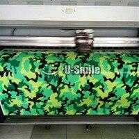 Elite зеленый камуфляж виниловая наклейка Обёрточная бумага лист черный зеленый тигр камуфляж автомобиль виниловой пленки для внедорожник Г