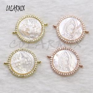 Image 2 - Pulsera de conchas para mujer, accesorios de piedras de concha, pulseras de joyería de cristal para mujer, joyería 5434, 10 piezas
