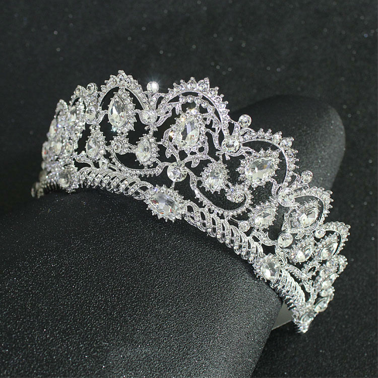 Vintage Princess Tiara Royal Pageant Wedding Crown Crystal Bridal Headpiece