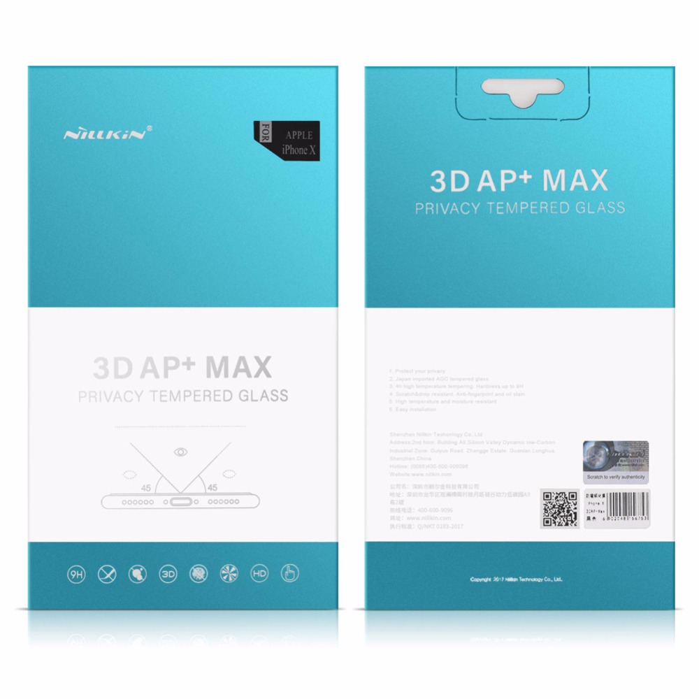 Nillkin Anti Spy Kaca Tempered untuk iPhone 11 Pro Max X XR XS MAX - Aksesori dan suku cadang ponsel - Foto 6
