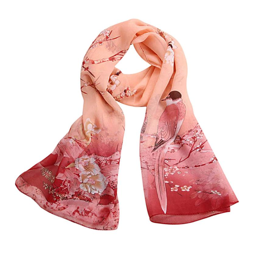 2016 autumn and winter 100 real silk scarf wrap shawl women female gradient solid color muslim foulard femme scarves jn6 - Foulard Color