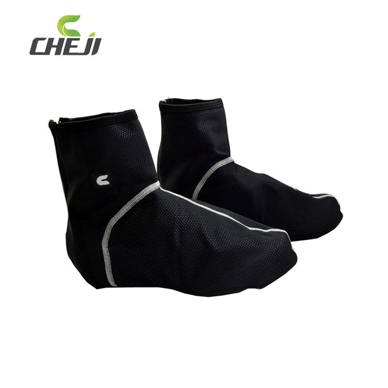 CHEJI Esential Outdoor Fleece Cycling Overshoes Windproof Dust proof Cubre Zapatillas Copriscarpe Cycling Bike Shoes Cover|bike shoe cover - title=