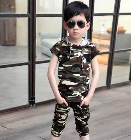Baby 2018 children fashion summer baby boys clothing sets 2pcs camouflage sport suit clothes sets boys girls set height 80-180cm 2016 new summer baby sport suit 100