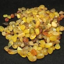 50 г натуральный желтый Агат полированный кристалл кварца гравий образец драгоценный камень тибетский Кристалл натуральные камни и минералы аквариум камень