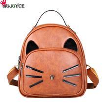 Mojoyce Дизайн Кожа PU Рюкзак Для женщин Рюкзаки для подростков Обувь для девочек Школьные сумки Дамская Винтаж Cat Рюкзаки Дорожные сумки